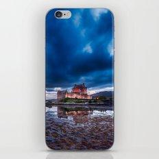 Dark Skies at Eilean Donan Castle iPhone & iPod Skin