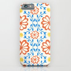 Orange Flower Pattern Slim Case iPhone 6s