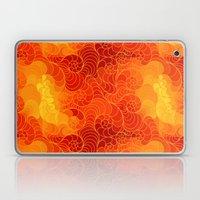 Red Stylized Wave Pattern Laptop & iPad Skin