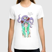 you are everywhere I go Womens Fitted Tee White SMALL