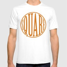 dont be a square White Mens Fitted Tee SMALL