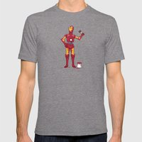 Iron Droid Variant Mens Fitted Tee Tri-Grey SMALL