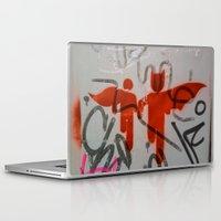 super heroes Laptop & iPad Skins featuring Super Heroes by Mauricio Santana