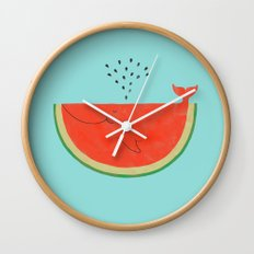 Don't let the seed stop you from enjoying the watermelon Wall Clock
