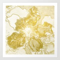 Golden Flower Art Print