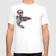 ZEBRA FLY Mens Fitted Tee White SMALL