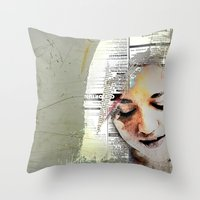 A Girl Named E Throw Pillow