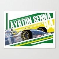 Ayrton Senna - F1 1994 Tribute Canvas Print