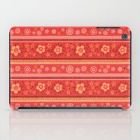 Bright Red Flowers iPad Case