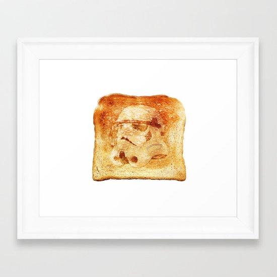 Stormtrooper Toast Framed Art Print