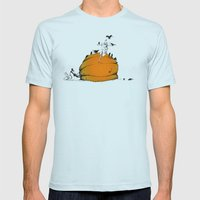 On Duty Mens Fitted Tee Light Blue SMALL