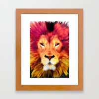 BIG CAT LION Framed Art Print