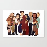 Firefly Crew Hug Canvas Print