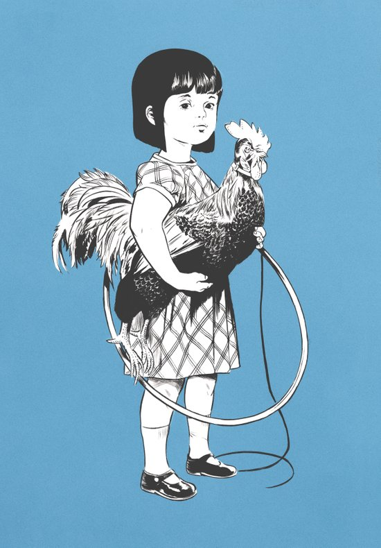 Rooster Girl Art Print