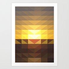 Sunset 457pm Art Print