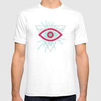 Illuminati (alt Color) Mens Fitted Tee White SMALL
