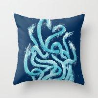 Firehydra! Throw Pillow