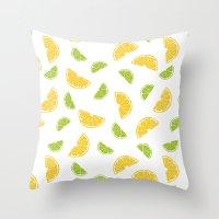 Citrus Sours Throw Pillow