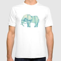 Paper Elephant SMALL White Mens Fitted Tee