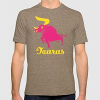 Taurus: the Bull Mens Fitted Tee Tri-Coffee SMALL