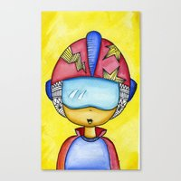 Aliem Space Explorer Boy Canvas Print