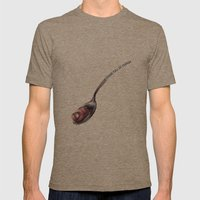 A Spoonful  Mens Fitted Tee Tri-Coffee SMALL