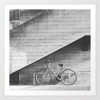 Bike and lines Art Print