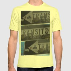 trans trans transito SMALL Lemon Mens Fitted Tee