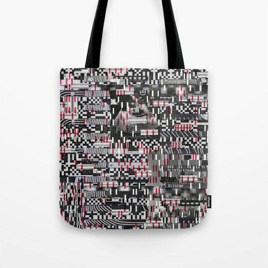 Comfortable Ambiguity (P/D3 Glitch Collage Studies) Tote Bag