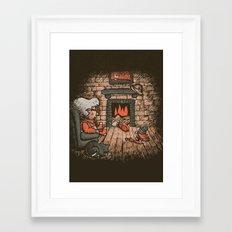 A Hard Winter Framed Art Print
