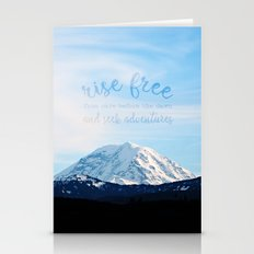 rise free from care before the dawn, and seek adventures Stationery Cards