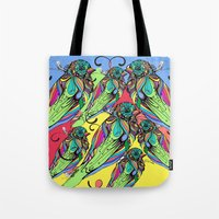 Colorful Bird Tote Bag