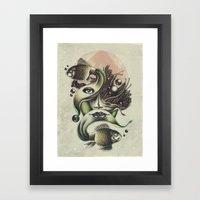 Fish Tale Framed Art Print