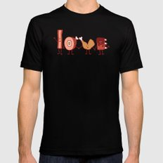 Meat Love U Black SMALL Mens Fitted Tee
