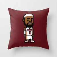 8-Bit: Lebron James Throw Pillow