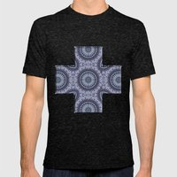 China Blue Mens Fitted Tee Tri-Black SMALL