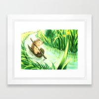 Hedgehog On A Journey Framed Art Print