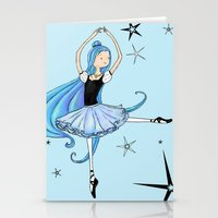 Snowflake Ballerina Stationery Cards