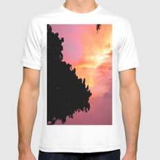 Divi Divi Tree Sunset Mens Fitted Tee SMALL White