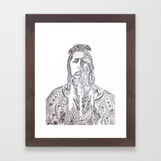 motifs of a portrait Framed Art Print