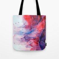 Watercolor Magenta & Cya… Tote Bag