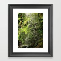Tears of Waterfall Framed Art Print