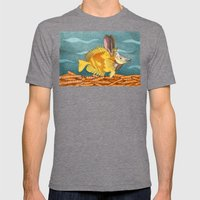 Foxface Rabbit Fish Mens Fitted Tee Tri-Grey SMALL