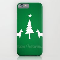 Christmas foxes iPhone 6 Slim Case