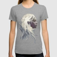 Mother Of Dragons Womens Fitted Tee Tri-Grey SMALL
