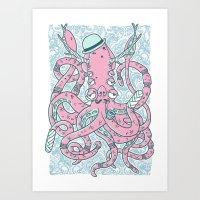 The Gentleman Squid Art Print