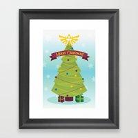 A Triforce Christmas Framed Art Print