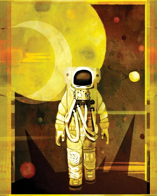 Space walk Canvas Print