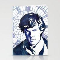 sherlock Stationery Cards featuring Sherlock by Jackie Sullivan
