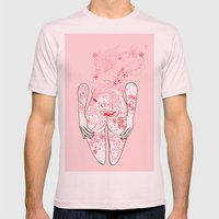 Fu Dog Mens Fitted Tee Light Pink SMALL